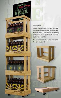 mdf aluminum printed styrene beer merchandiser - Beer Merchandiser